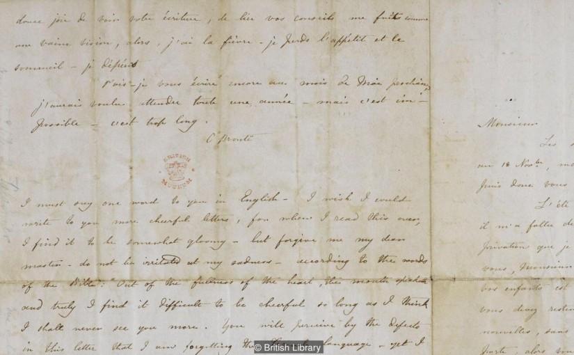 Charlotte Brontës brev till Constantin Héger den 18 november 1844