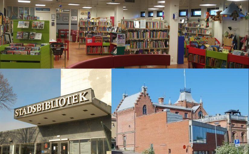 Vi gillar biblioteken i Grums, Eskilstuna och Sollefteå!